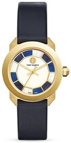 Tory Burch Whitney Deco Leather Strap Watch, 36mm