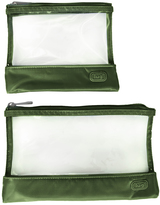 Lug Olive Green Runway Clearview Pouch Set