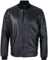 Z Zegna ribbed-trim jacket