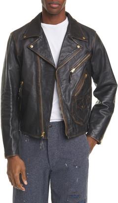 Ralph Lauren RRL Marshall Leather Biker Jacket