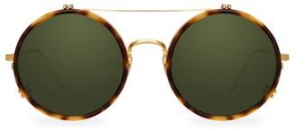 Linda Farrow 741 C5 Round Aviator Sunglasses