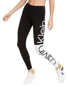 Calvin Klein Colorblocked Logo High-Waist Leggings