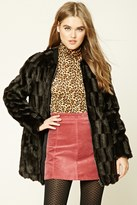 Forever 21 FOREVER 21+ Faux Fur Zip-Front Jacket