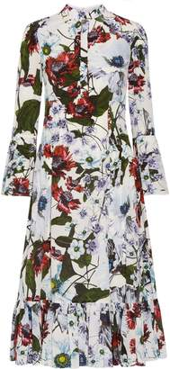 Erdem Connie Floral-print Silk Crepe De Chine Dress