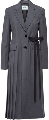Prada Single-Breasted Light Wool Coat