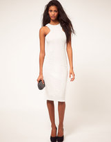 Cut Out Racer Sequin Midi Dress