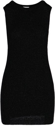 Saint Laurent Ribbed Fitted Dress