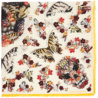 Alexander McQueen Multicolor Botanical Paisley Shawl