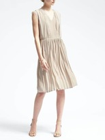 Banana Republic Lace-Trim Pleated Dress