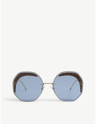 Fendi FF0358 irregular-frame sunglasses