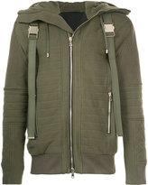 Balmain zipped buckle bomber jacket