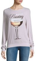 Wildfox Couture Textured Long-Sleeve Tee