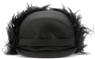 Prada Fur Trim Baseball Cap