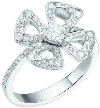 Bvlgari White Gold and Diamond Fiorever Ring
