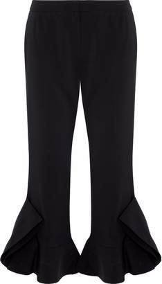 GOEN.J Cropped Flared Cady Straight-leg Pants