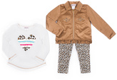 Little Lass Tan Fringe Jacket Set - Infant & Girls