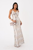 Girls On Film Frost Silver Sequin Maxi Dress