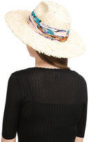 Emilio Pucci Straw Hat with Printed Trim
