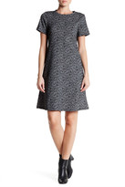 Bobeau Short Sleeve Tweed Shirt Dress