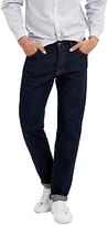 Jaeger Washed Selvedge Slim Jeans, Indigo