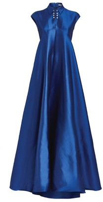 Alexis Mabille Satin Collar Gown