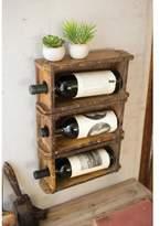 Kalalou Hanging Brick Mold Wine Rack