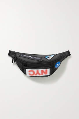 adidas By Alexander Wang - Appliquéd Shell Belt Bag - Black