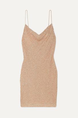 Alice + Olivia Alice Olivia - Harmie Sequined Stretch-tulle Mini Dress - Gold