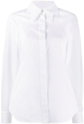 Victoria Beckham Cut-Out Collar Shirt