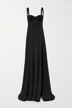 Thierry Mugler Satin Maxi Dress - Black