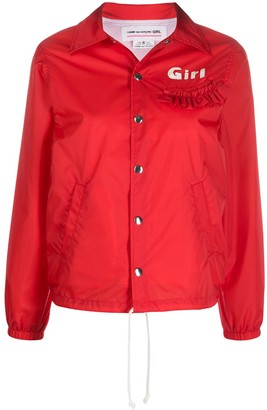 Comme des Garcons embroidered bomber jacket