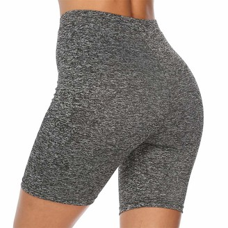 Sotrong Women's High Waisted Running Cycling Yoga Shorts Workout Compression Tights Legging Skirts Short Skirt Under Safety Pants Underwear Dark Grey S