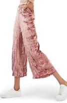 Topshop Women's Crushed Velvet Trousers