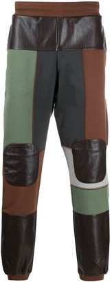 Gr Uniforma Faux Leather Patch Trousers