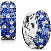 Effy Saph Splash by Shades Of Sapphire Hoop Earrings (2-3/4 ct. t.w.) in Sterling Silver
