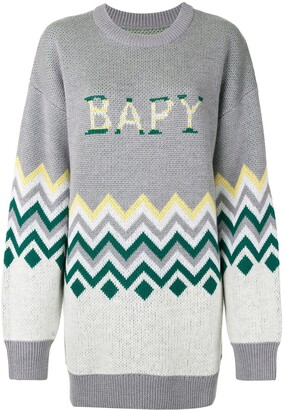 BAPY BY *A BATHING APE® Zigzag-Print Oversized Jumper