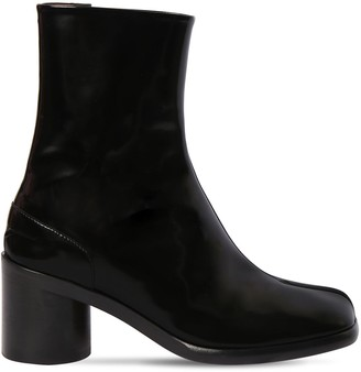 Maison Margiela 60mm Brushed Leather Ankle Boots