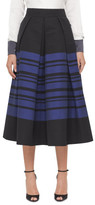 Martin Grant Long Aline Stripe Skirt