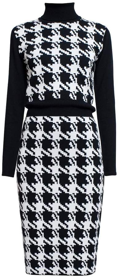 74db608266ab Black And White Knitted Dress - ShopStyle UK