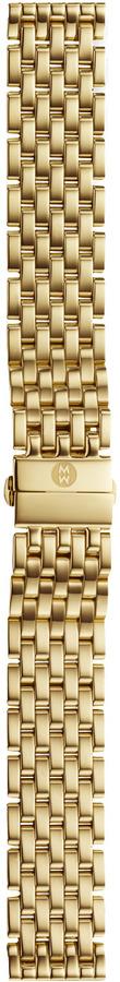 Michele 18mm Caber Gold Bracelet Strap