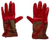 Etro Paisley Print Leather Gloves