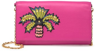 Valentino Palm Tree Leather Convertible Clutch