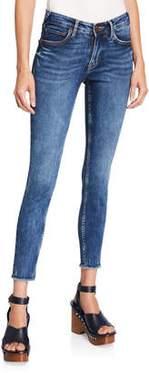 True Religion Jennie Mid-Rise Skinny with Frayed Hem