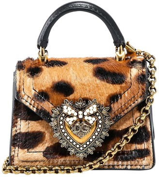 Dolce & Gabbana Mini Leopard Print Shoulder Bag
