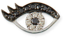 Sydney Evan Small Eyelash Evil Eye Stud Earrings