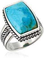 "Barse Basics"" Genuine Turquoise Roped Ring Size 6"
