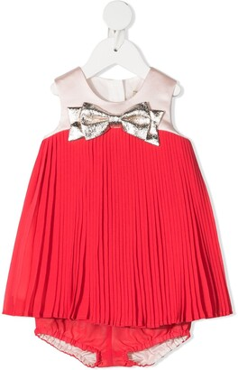 Hucklebones London Pleated-Edge Sleeveless Dress