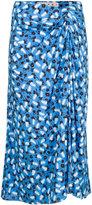Marni draped floral midi skirt