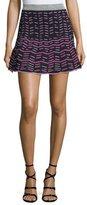 M Missoni Zigzag Fit-&-Flare Miniskirt, Ink