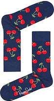 Happy Socks Cherry Socks, One Size, Navy